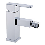 contemporaine seul robinet de bidet poigne en laiton - fini chrome