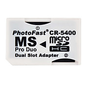 Dual MicroSDHC to MS Pro Duo Memory Card Adapter