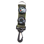 Portable Outdoor Tool (Compass+Thermometer+Hiking Clip)