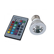 E27 3W RGB Light Remote Controlled LED Spot Bulb (110-240V)