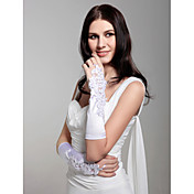 Satin Wedding Bridal Fingerless Elbow Length Gloves