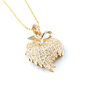 Luxurious Plated crystal Mapleleaf-shaped USB Flash Driver Necklace(4GB)