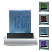 Colorful Translucent Desktop LCD Clock