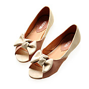 Leatherette Upper Flat Heel Flats With Bowknot Casual/ Honeymoon Shoes.More Colors Available