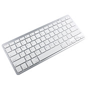 81-Taste portabler Akku Bluetooth Wireless Keyboard - weiß