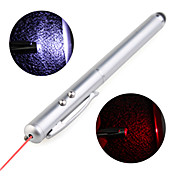 Penna stilo 3-in-1 + Torcia LED + Puntatore Laser per iPhone e iPad - Argento