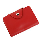 elegante lederen business card case (rood)