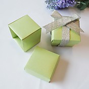 Square Favor Box In Pearl Sage (Set of 24)
