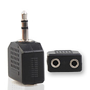 dos 2.5mm divisor audio a 3.5mm hembra macho adaptador jack