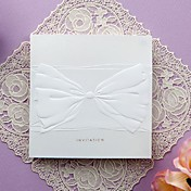 Simple Embossed Tri-fold Wedding Invitation (Set of 50)
