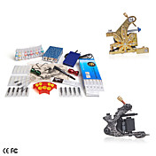 2 Guns Tattoo Kit with Mini Power and 10 Color Ink