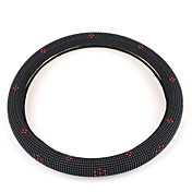 Black Car Steering Wheel Cover with Inlaid Iron Beads
