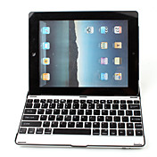 Ultra-Slim Aluminium drahtlose Bluetooth-QWERTY-Tastatur fr iPad 2 und dem neuen iPad