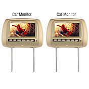 7 Inch Wide Screen TFT LCD Headrest Monitor  (1 Pair)