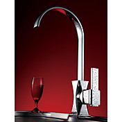 Solid Brass Morden Kitchen Faucet (Chrome Finish)