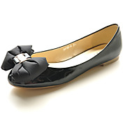 Patent Leather Upper Low Heel Closed Toe With Bowknot Honeymoon Shoes More Colors Aavailable