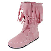 Leatherette Upper Flat Heel Mid-Calf Boots With Lace-up/Tassel Casual Shoes More colors Available