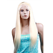 "Lace Front With Adjustable Strap At Back Straight 24"" Indian Remy Lace Wig 26 Colors To Choose"