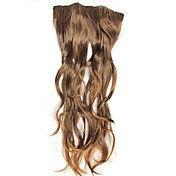 Fashion Light Brown Curly Clip In Hair Extension