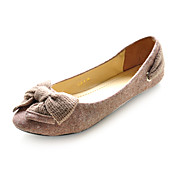Suede Upper Closed Toe Flats With Bowknot Honeymoon Shoes More Colors