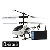3 kanals i-helikopter 777-172 med gyro styrt av iPhone / iPad / iPod touch (hvit)