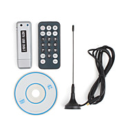 DVB-T Digital TV USB 2.0 Dongle with Remote Control (Silver)