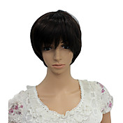 Capless Short High Temperature Wire Black Costume Party Wig