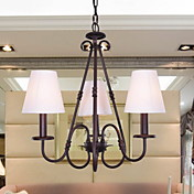 Elegant Style Chandelier with 3 Lights in White Shade