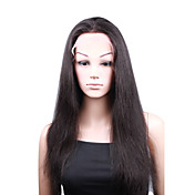 "Full Lace With Stretch On Crown Yaki 18"" Indian Remy Lace Wig 5 Colors To Choose"
