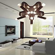 COMMACK - Lampadario moderno con 10 lampadine
