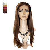 Full Lace Long Silky Straight 100% India Reme Hair Wig Multiple Colors To Choose