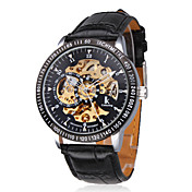 Men's Stylish Mechanical Wrist Watch with Hollow Engraving (Black)