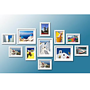 White Photo Wall Frame Collection - Set of 11