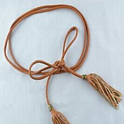 Women's Vintage Tassel String Wide Belt