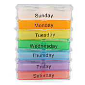 Colorful 7-Days Design Pill Box with Rack