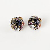 Colourful Rhinestone Alloy Earrings