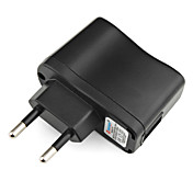 CA 100V-240V universal de viaje de la UE ac cargador (negro)