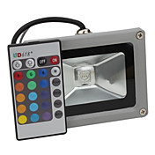 10W 800-900LM RGB Light Remote Controlled LED Flood Lamp (85-265V)