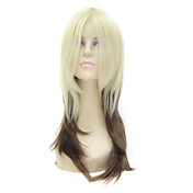 Capless Medium Long Mixed Color Synthetic Hair Wig