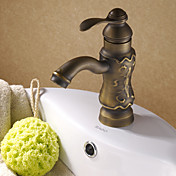 Antique Solid Brass Centerset Bathroom Sink Faucet (Antique Copper Finish)