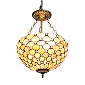 Tiffany Ceiling Light with 3 Lights in Luxuriant Style