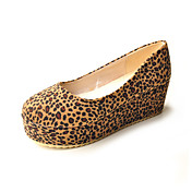 Suede Animal Print Closed Toe Platforms (More Colors)