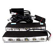 Car Daytime Running Light (2 PCS, 10 LED, White Light, Waterproof)