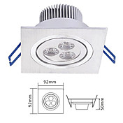 3w projecteur men dans la source de lumire blanche chaude (IP40)