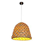 Golden Pendant Light with 1 Light in Bell Shape