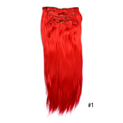 20 Inch Synthetic Clip In Hair Extensions -10 Colors Available
