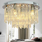 Crystal Semi Flush Mount with 6 Lights in Round