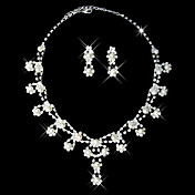 White Pearl Two Piece Cute Ladies' Jewelry Set (45 cm)