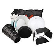 6-in-1 Flash gun kit di accessori