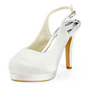 Satin Stiletto Heel Slingbacks / Pumps With Buckle Wedding Shoes (More Colors Available)